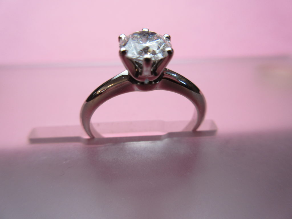 Genuine Tiffany Engagement Ring Under $7100 - Diana Michaels Jewelers