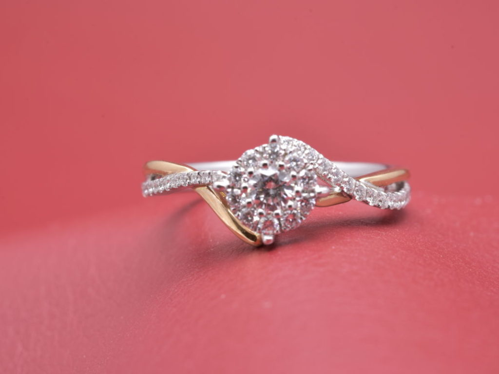 Sparkly Diamond Cluster Ring With Pave Top - Diana Michaels Jewelers