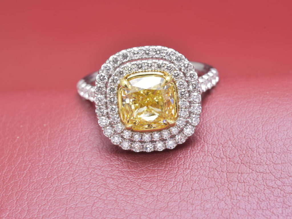 Natural Canary Yellow Diamond Ring That Really Sings! - Diana ...
