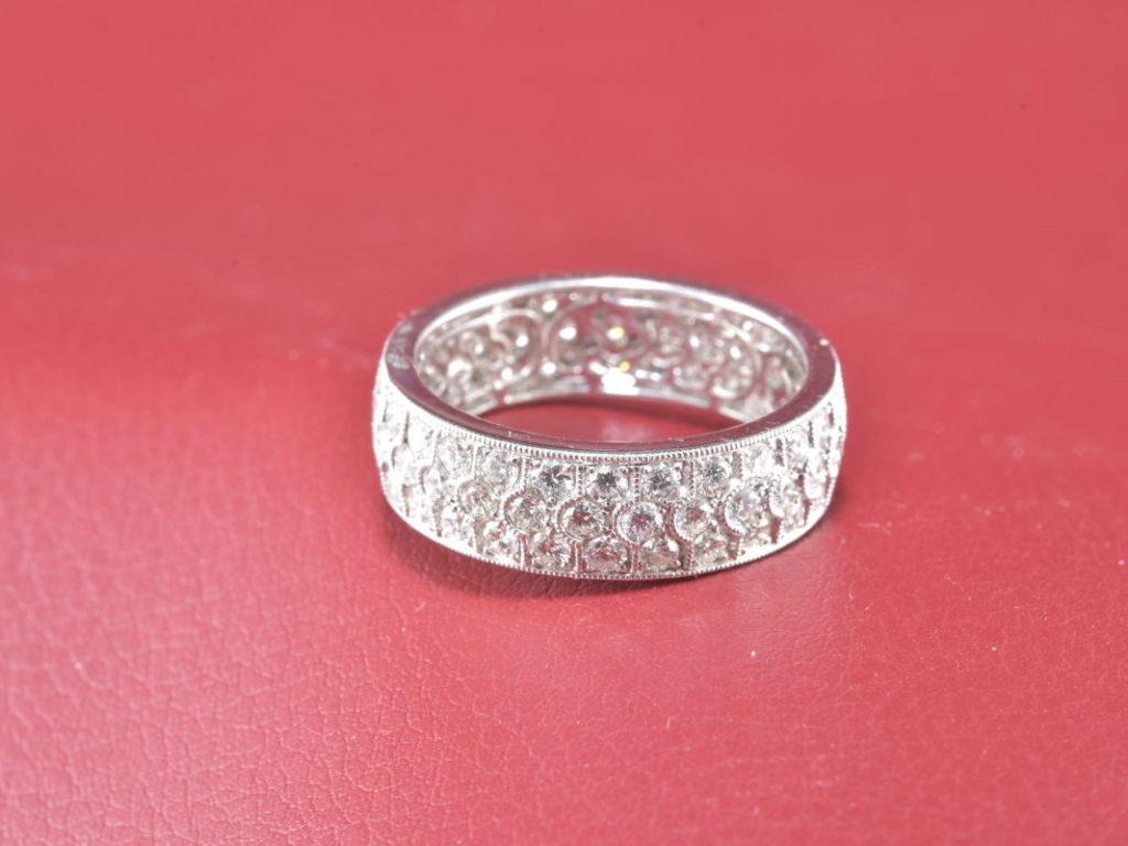 18 Karat White Gold Full Anniversary Diamond Ring - Diana Michaels ...
