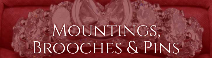 Mountings, Brooches & Pins