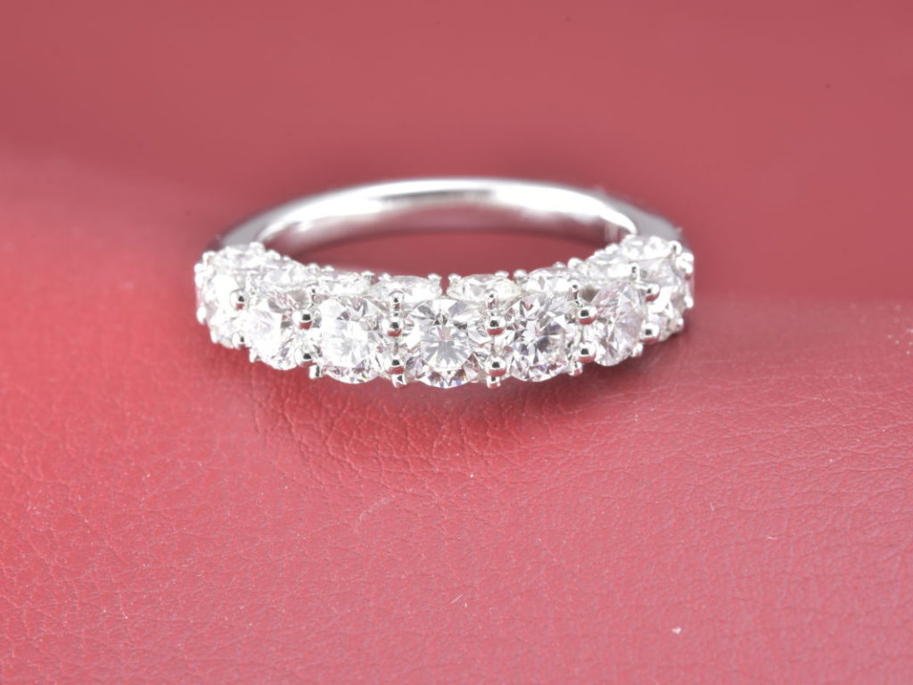 Platinum Half Anniversary Ring With Flawless, Colorless Diamonds ...