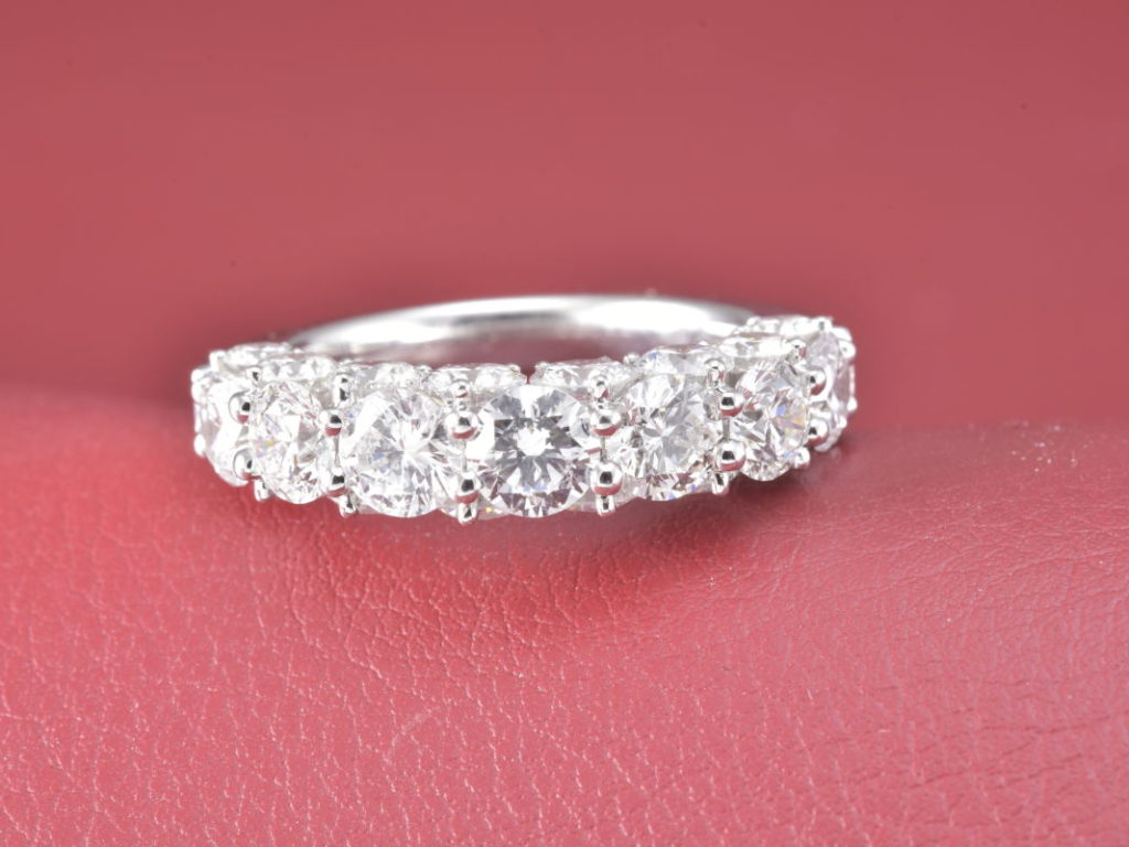 Platinum Half Anniversary Ring With 4.87Tw Flawless, Colorless ...